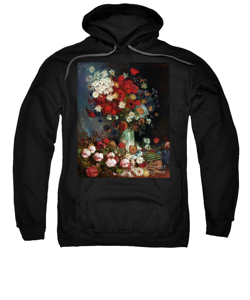 1886 Sweatshirt featuring the photograph Van Gogh Still Life 1886 by Granger