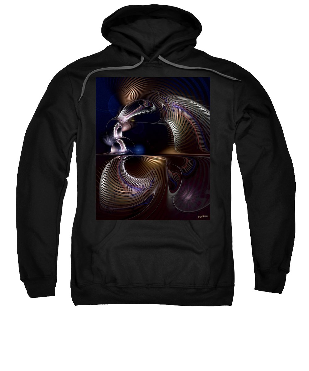 Abstract Sweatshirt featuring the digital art Variations On Varese by Casey Kotas