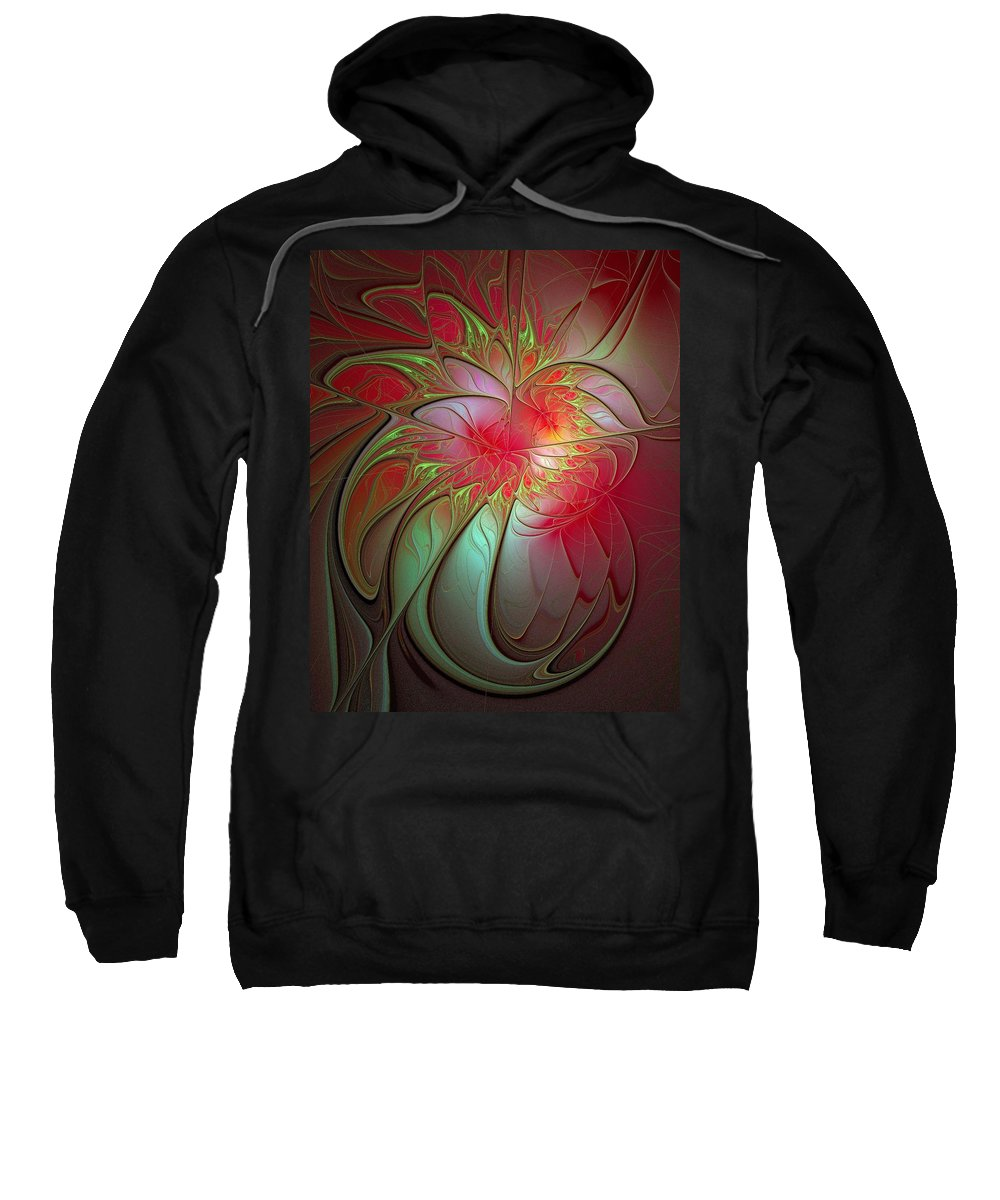 Digital Art Sweatshirt featuring the digital art Vase Of Flowers by Amanda Moore