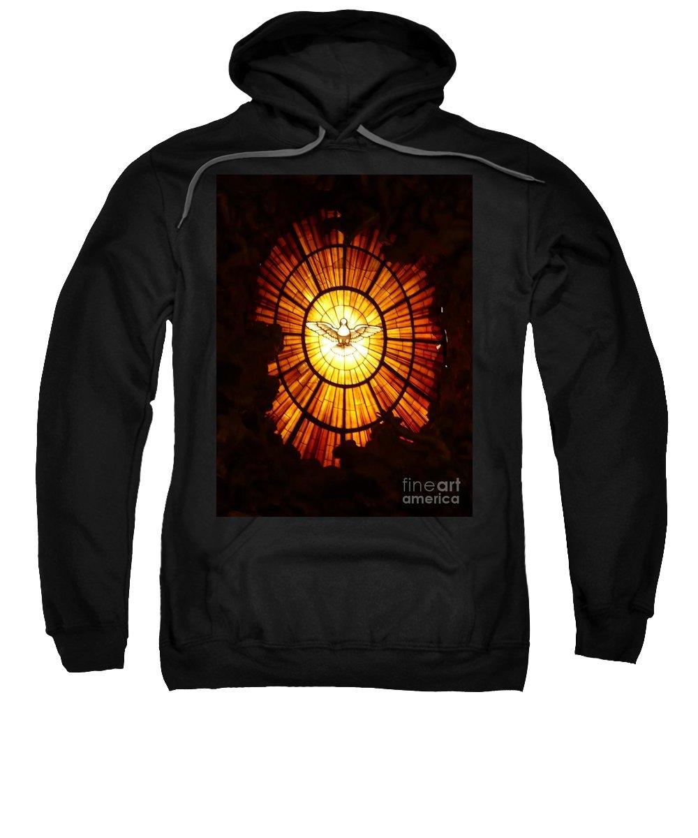 The Vatican Sweatshirt featuring the photograph Vatican Window by Carol Groenen