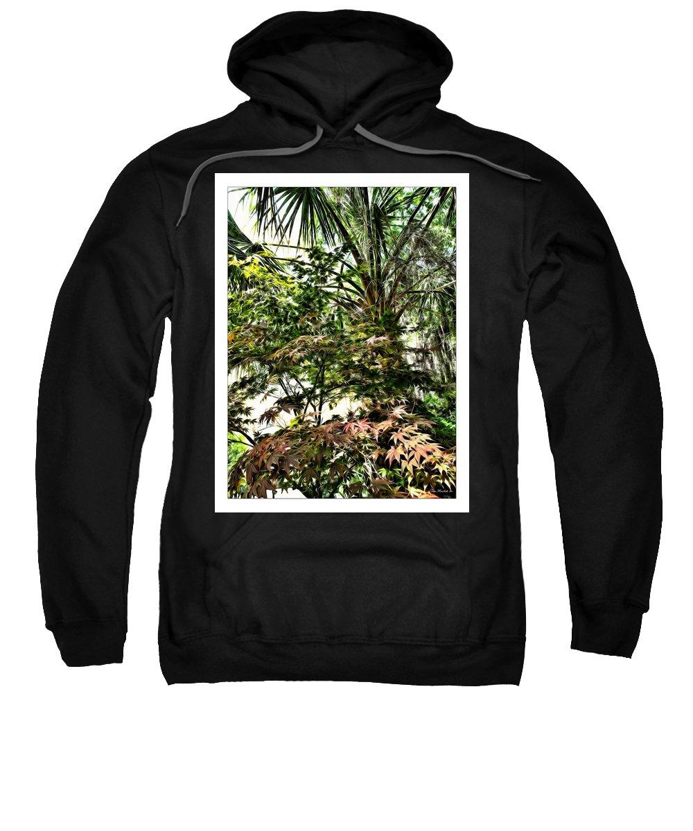 Charleston Sweatshirt featuring the digital art Vegetation Takeover by Joan Minchak