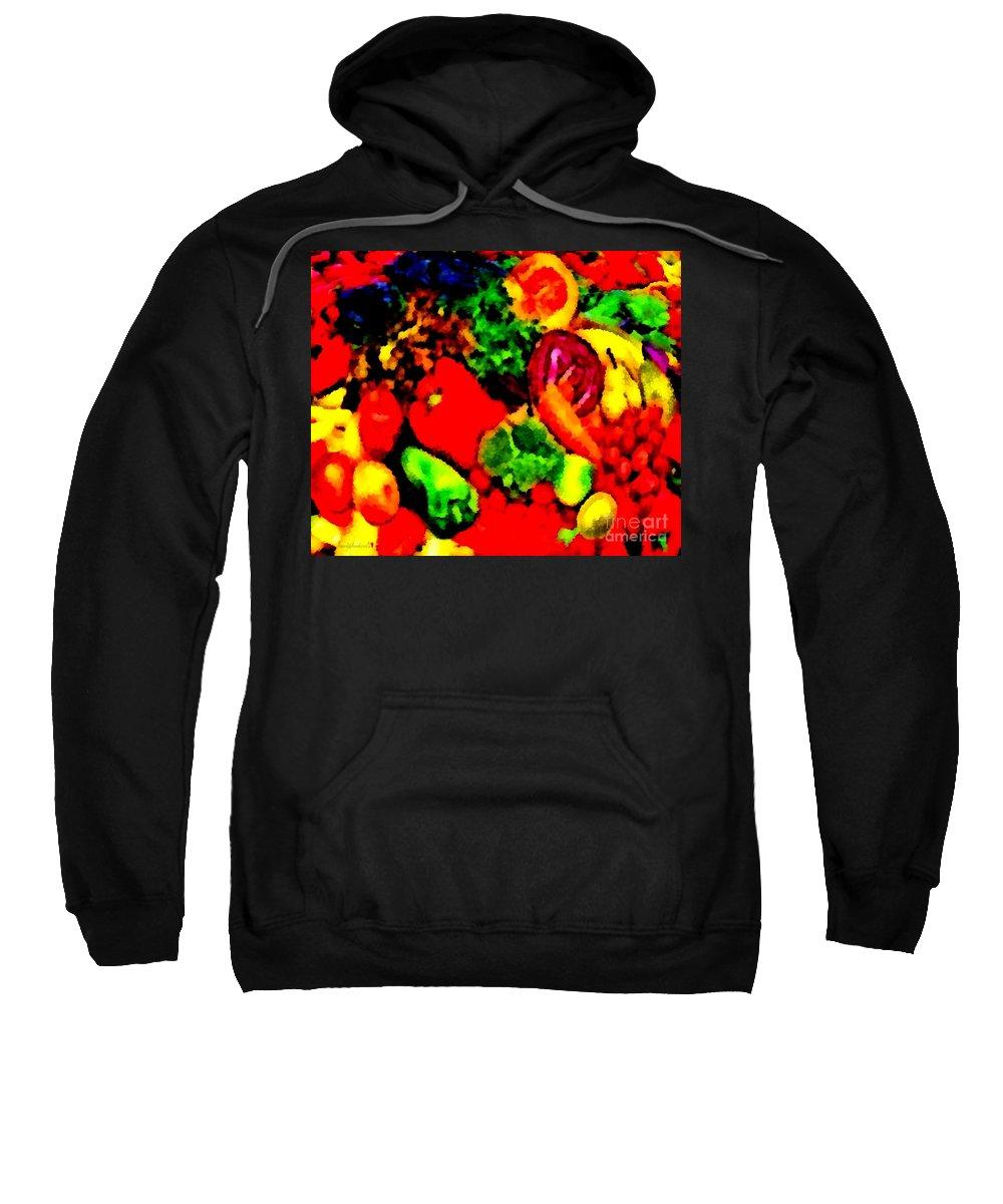 Veggies Sweatshirt featuring the painting Veggies by Catherine Lott