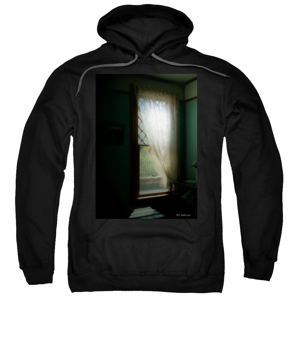 Antiques Sweatshirt featuring the painting Velvet Afternoon by RC DeWinter