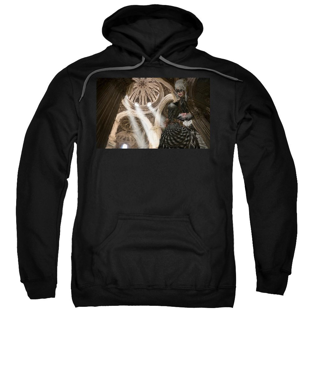 Fantasy Sweatshirt featuring the painting Venetian Faerie Tale by Brian Cooper