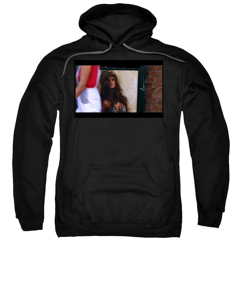 Venice Sweatshirt featuring the photograph Venice Cowgirl by Charles Stuart