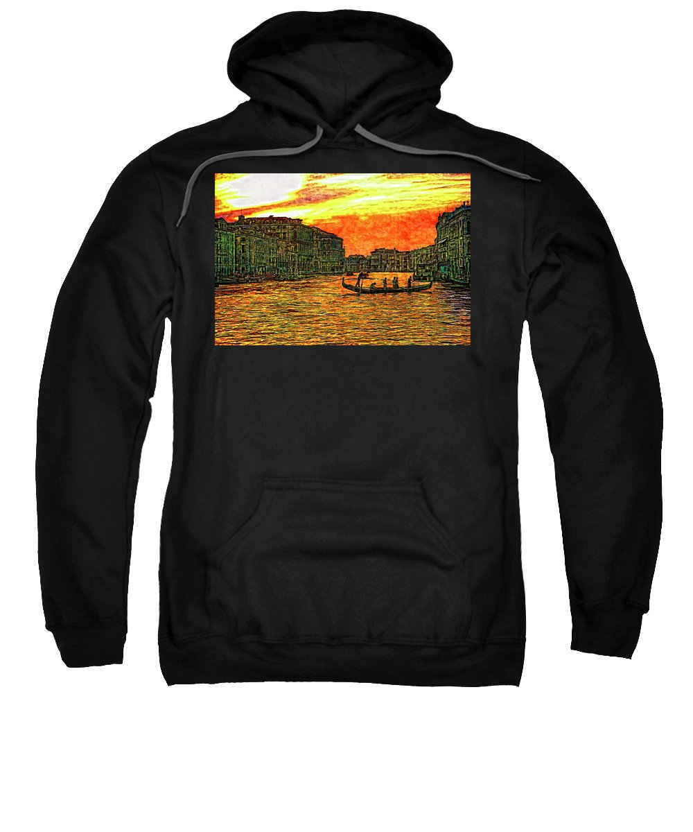 Venice Sweatshirt featuring the photograph Venice Eventide by Steve Harrington