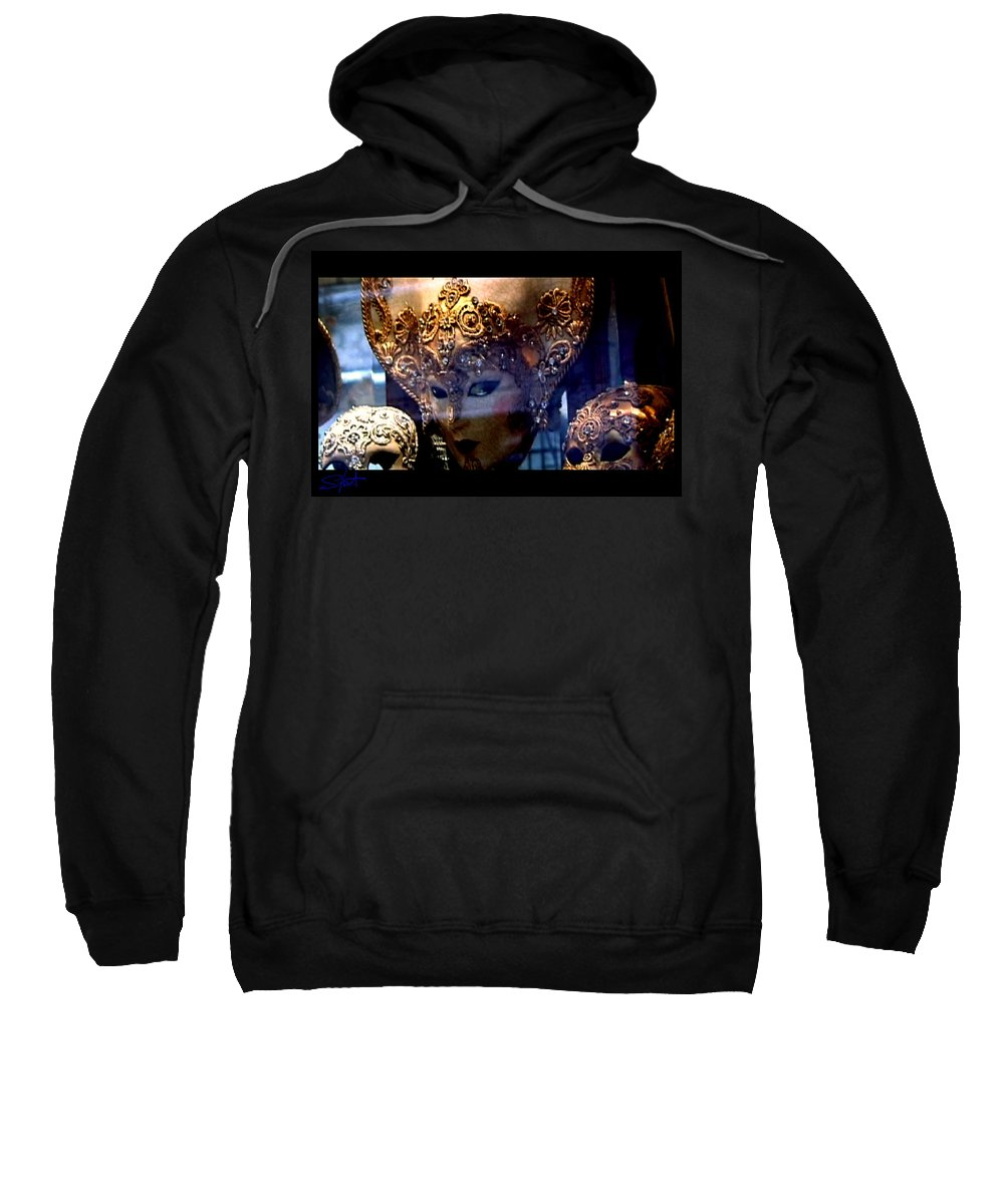 Venice Sweatshirt featuring the photograph Venician Masks by Charles Stuart