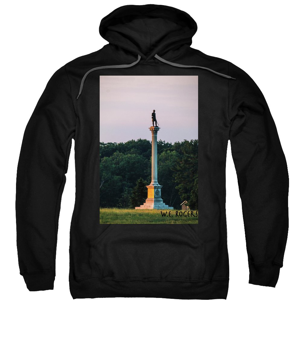 This Is A Photo Of The Vermont Monument Sweatshirt featuring the photograph Vermont Monument by William Rogers