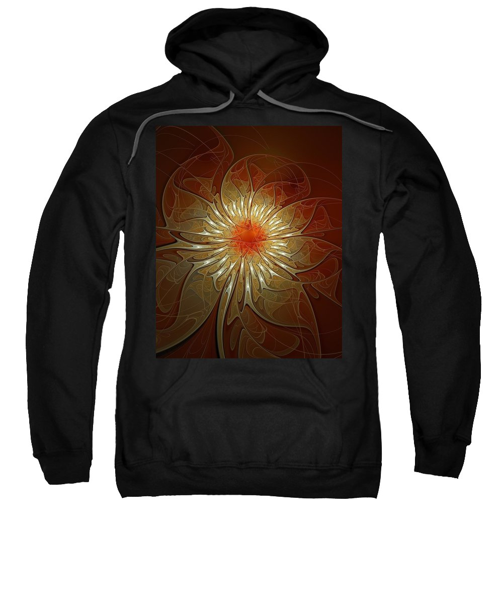 Digital Art Sweatshirt featuring the digital art Vibrance by Amanda Moore