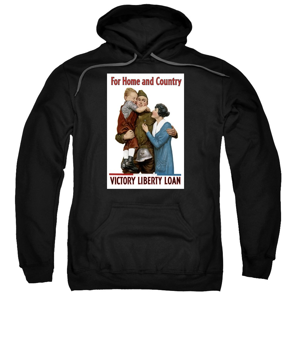 World War One Sweatshirt featuring the painting Victory Liberty Loan - World War One by War Is Hell Store