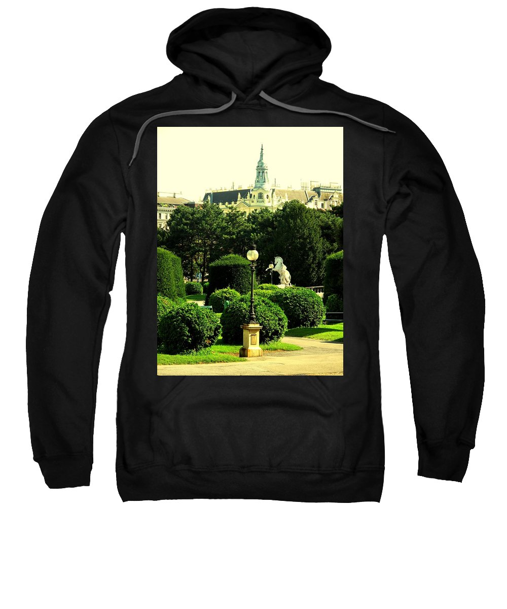 Vienna Sweatshirt featuring the photograph Vienna Park by Ian MacDonald