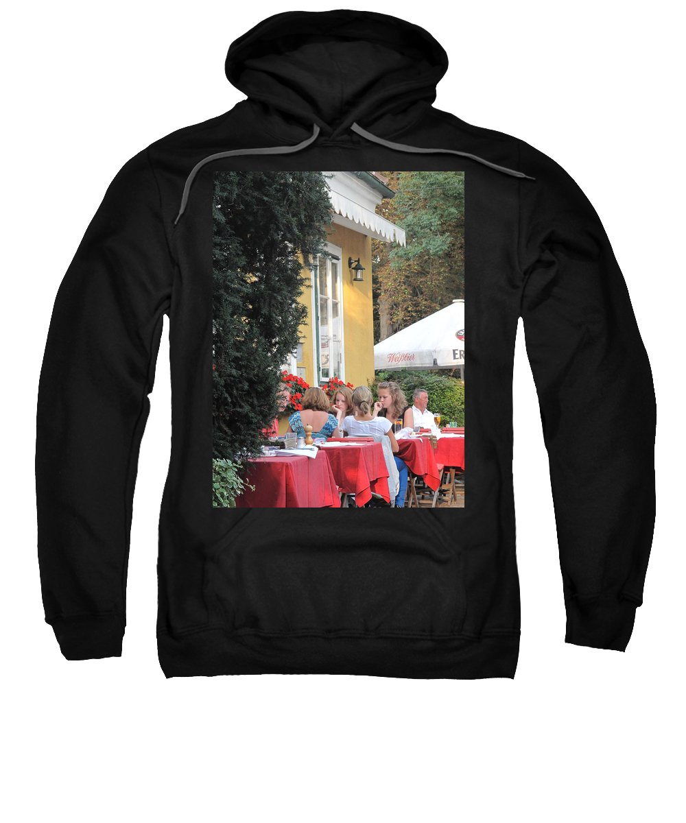 Vienna Sweatshirt featuring the photograph Vienna Restaurant In The Park by Ian MacDonald