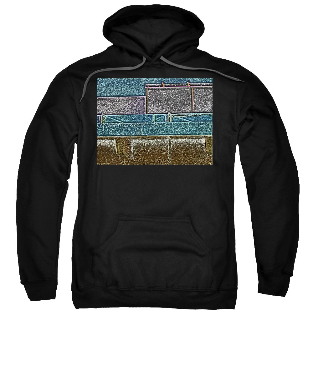Abstract Sweatshirt featuring the digital art View From The Bank 3 by Lenore Senior