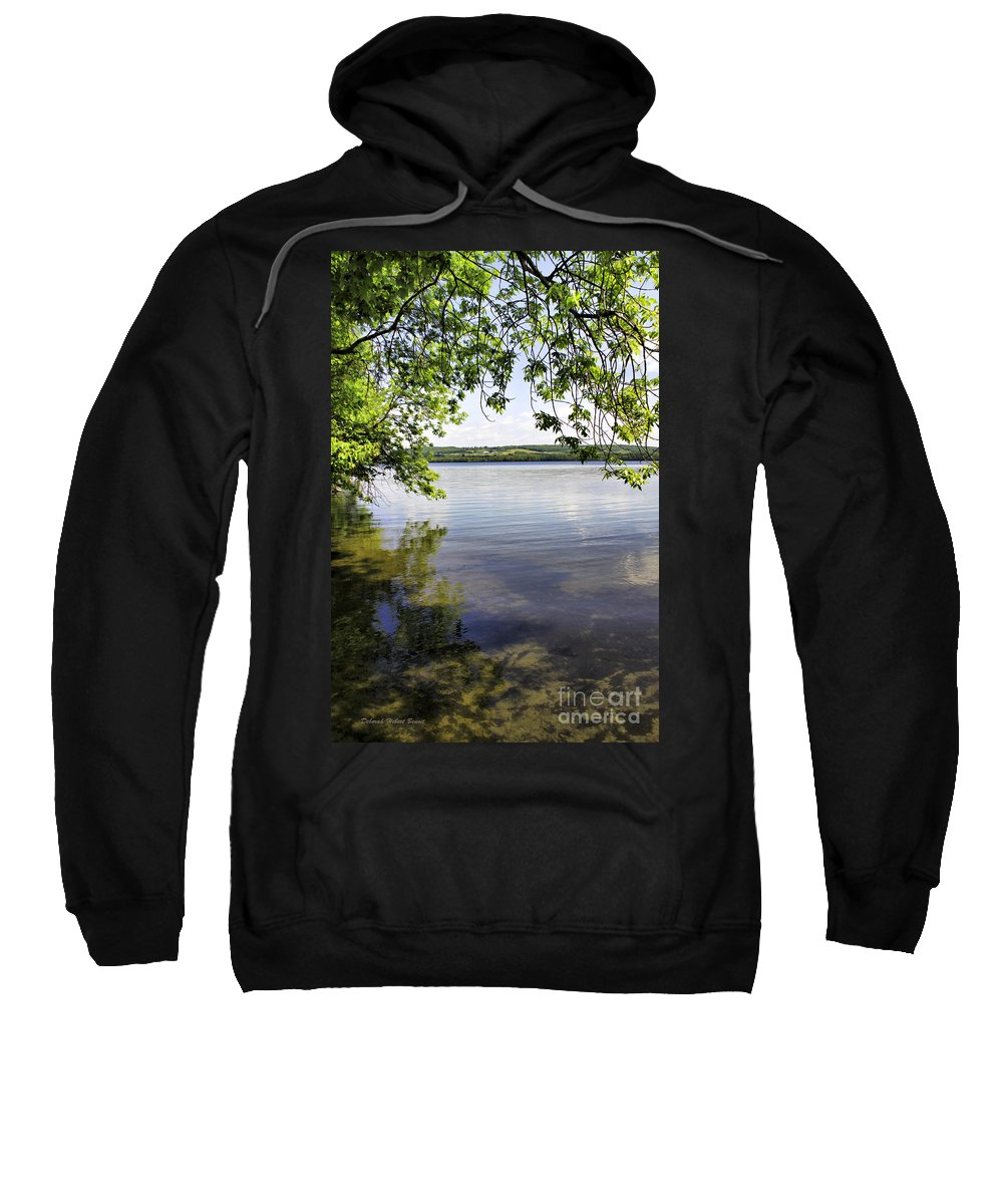 Vermont Sweatshirt featuring the photograph View From Under At Lake Carmi by Deborah Benoit
