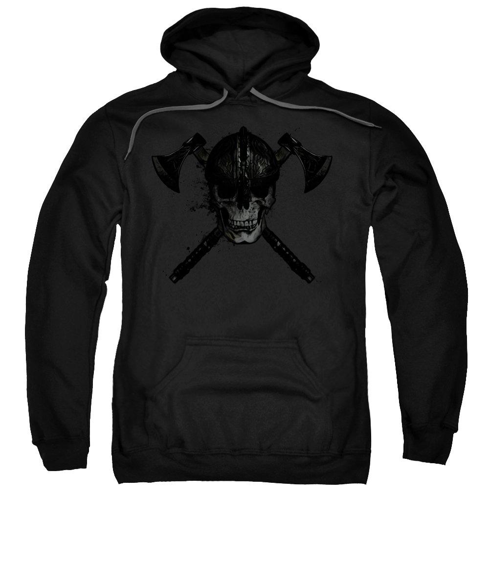 Viking Sweatshirt featuring the digital art Viking Skull by Nicklas Gustafsson