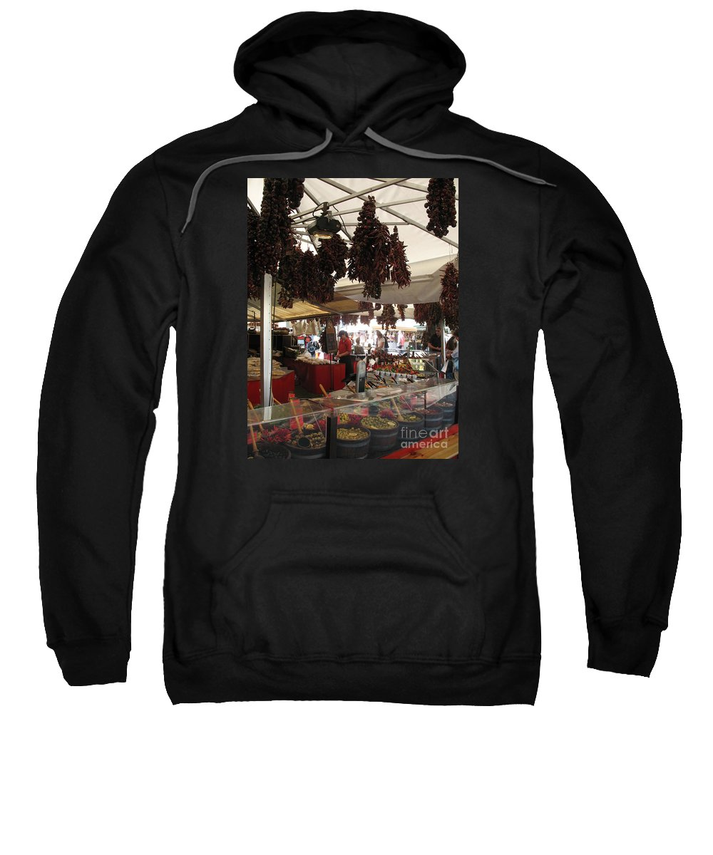 Market Sweatshirt featuring the photograph Viktualienmarkt - Munich by Christiane Schulze Art And Photography