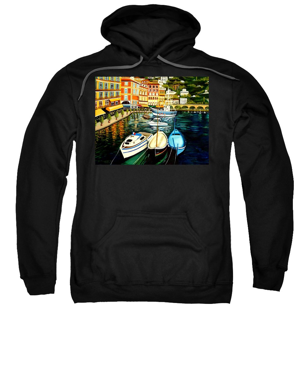 Landscape Sweatshirt featuring the painting Villa Franche by Elizabeth Robinette Tyndall