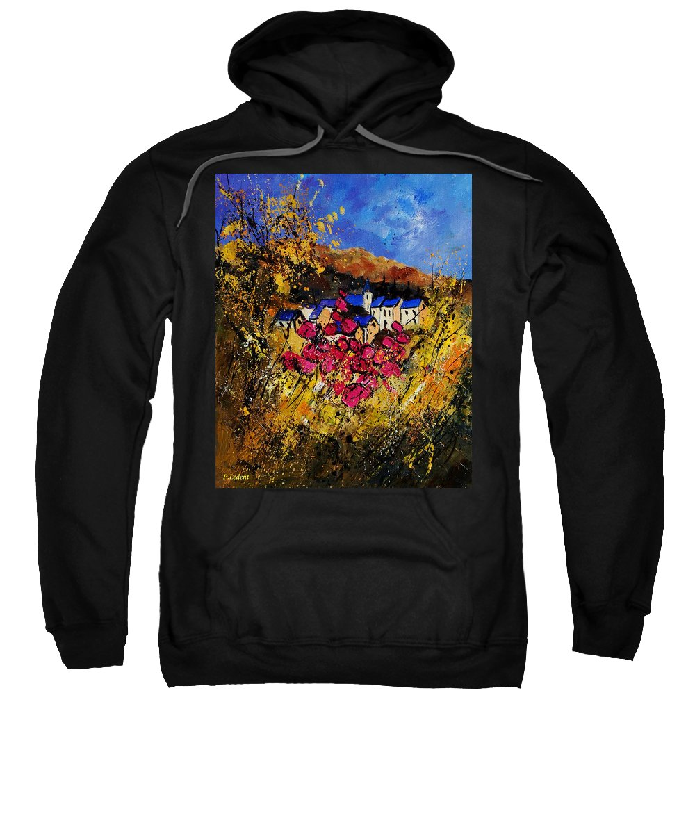 Flowers Sweatshirt featuring the painting Village 450808 by Pol Ledent
