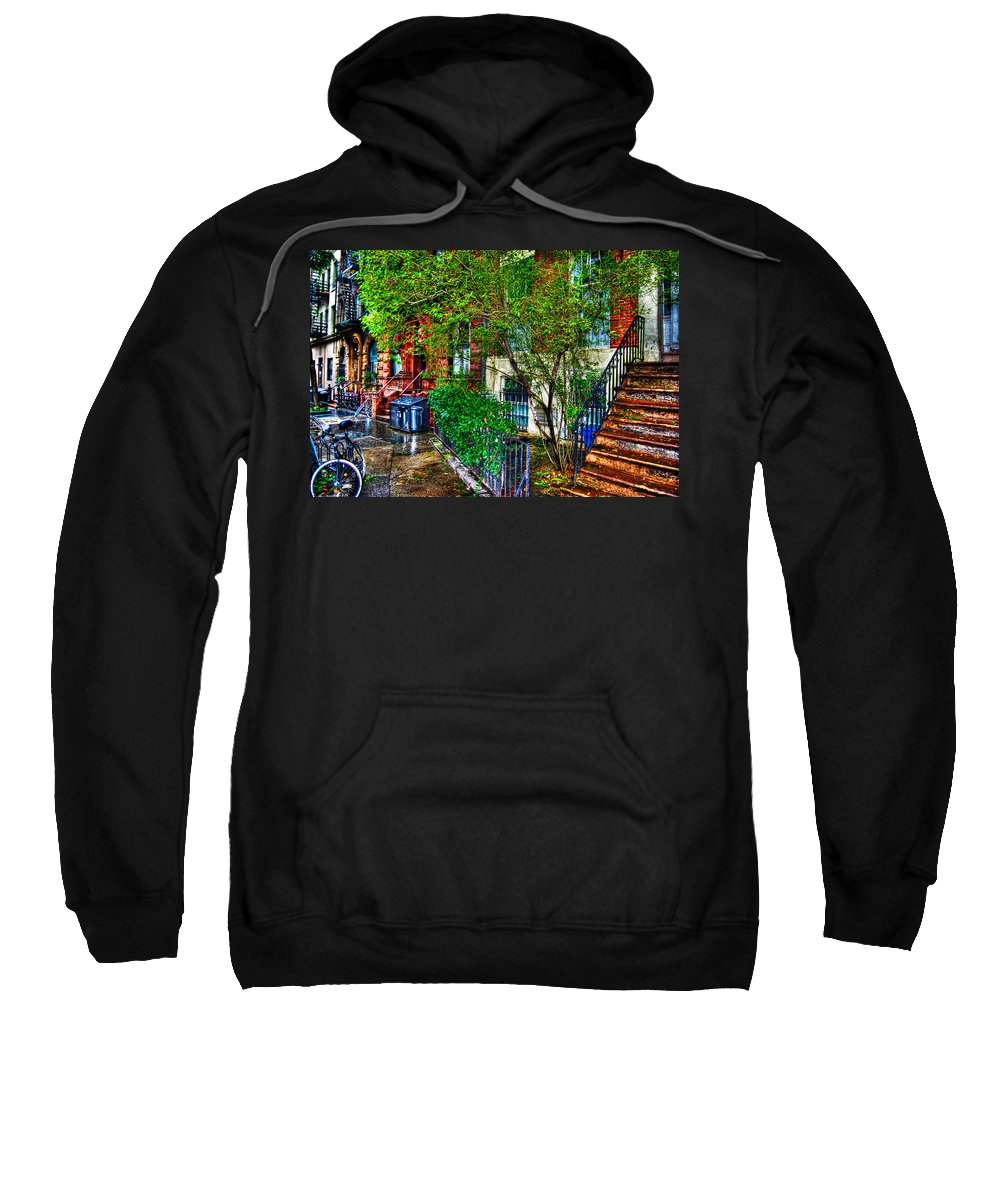 Townhouse Sweatshirt featuring the photograph Village Life by Randy Aveille