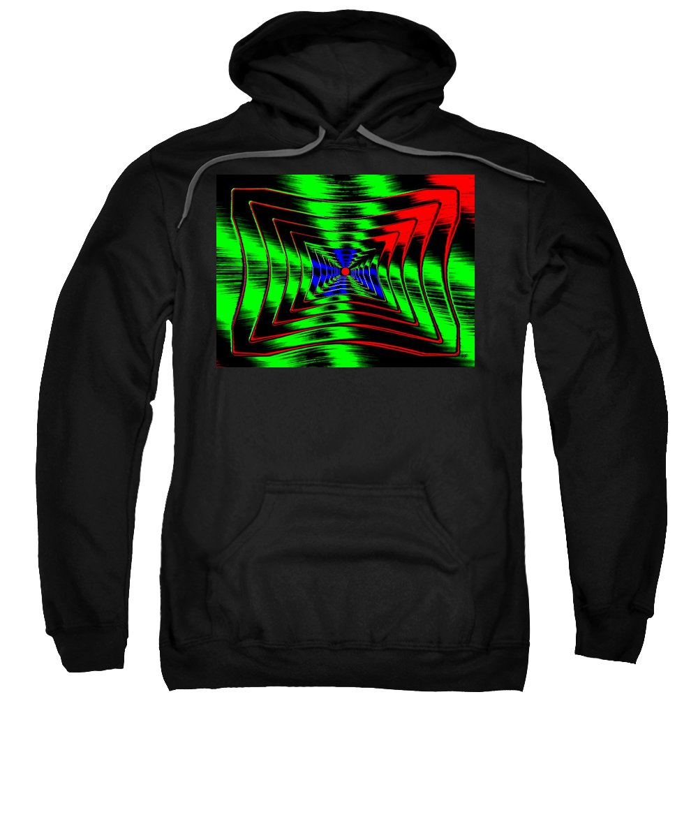 Energizing Sweatshirt featuring the digital art Vim And Vigor by Will Borden