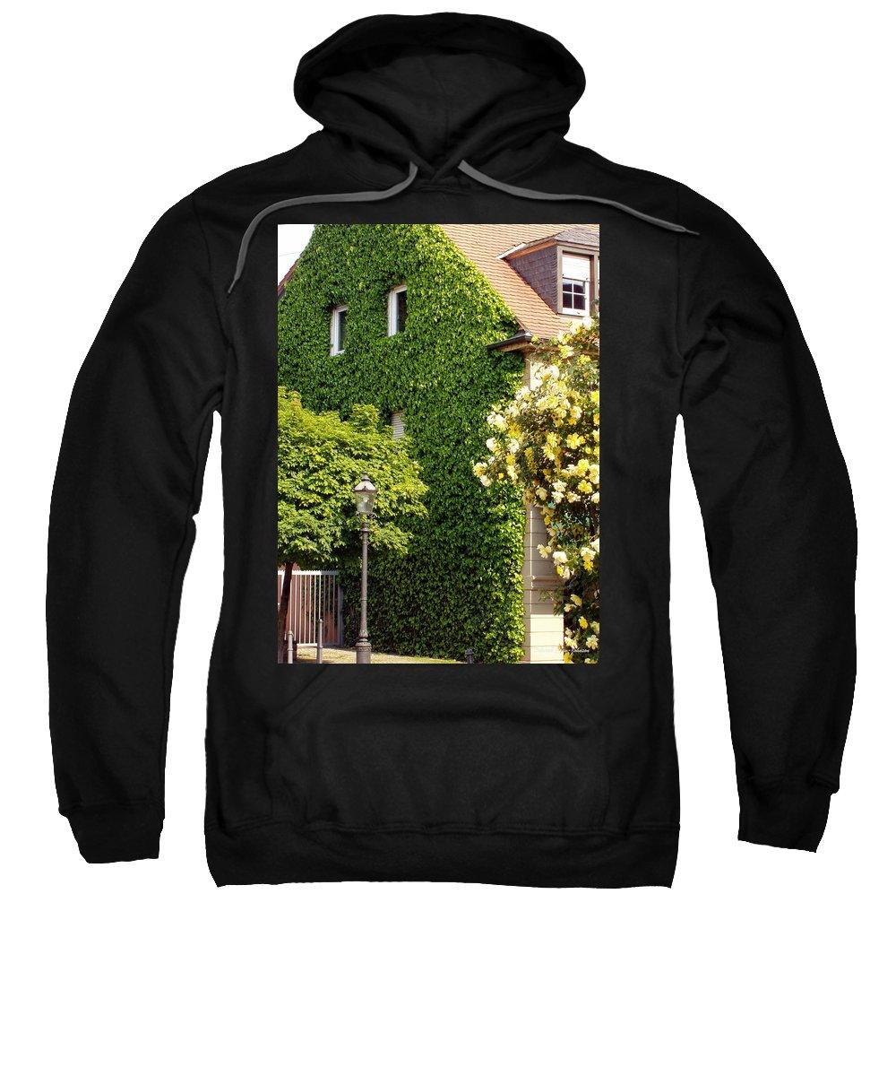 Building Sweatshirt featuring the photograph Vine Cover by Deborah Crew-Johnson