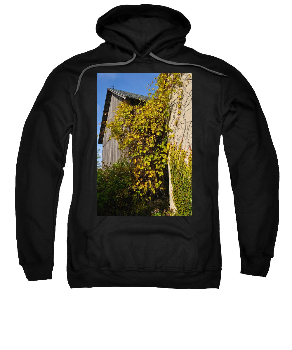 Silo Sweatshirt featuring the photograph Vined Silo by Tim Nyberg