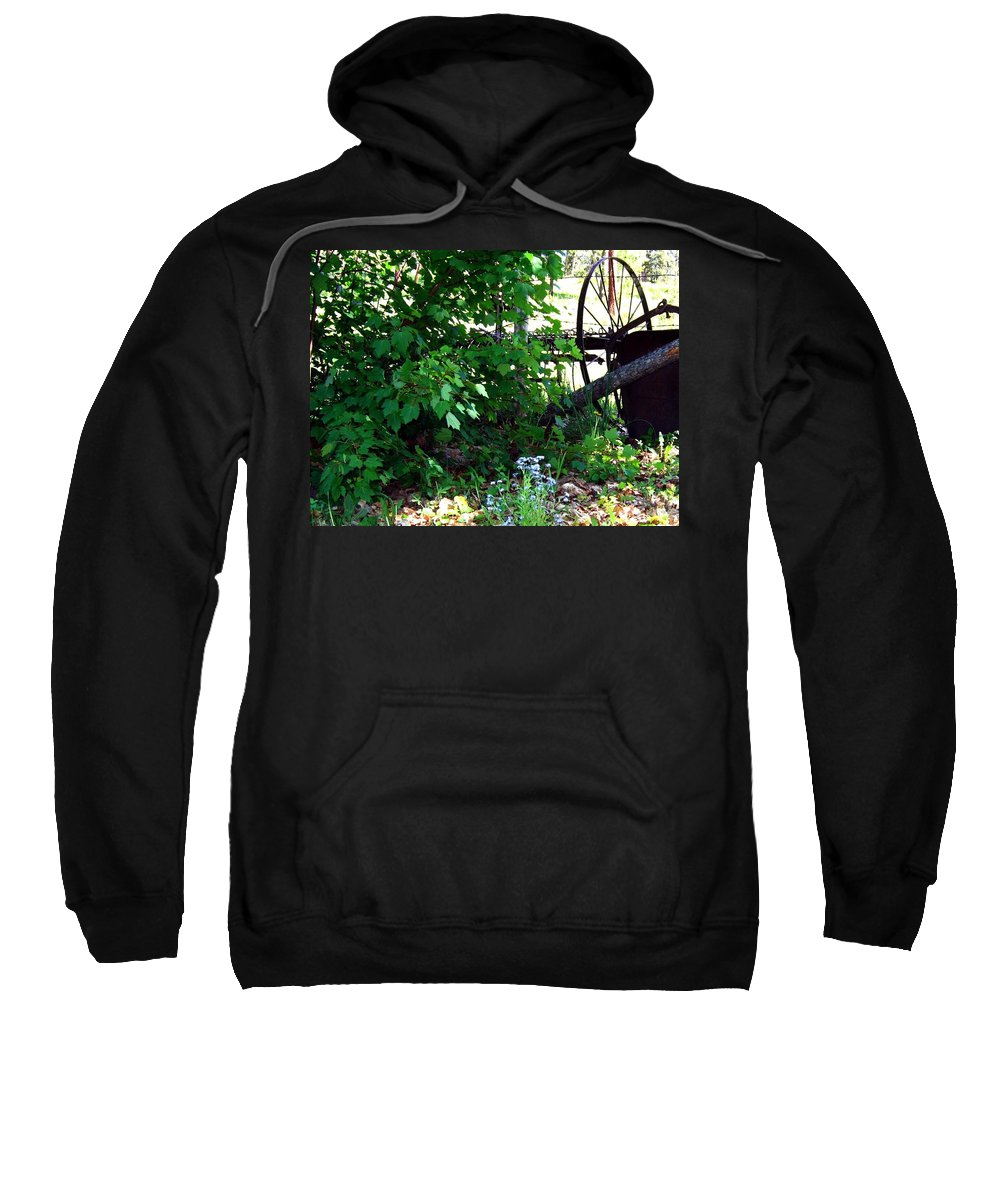 Farm Rake Sweatshirt featuring the photograph Vintage Farm Rake by Will Borden