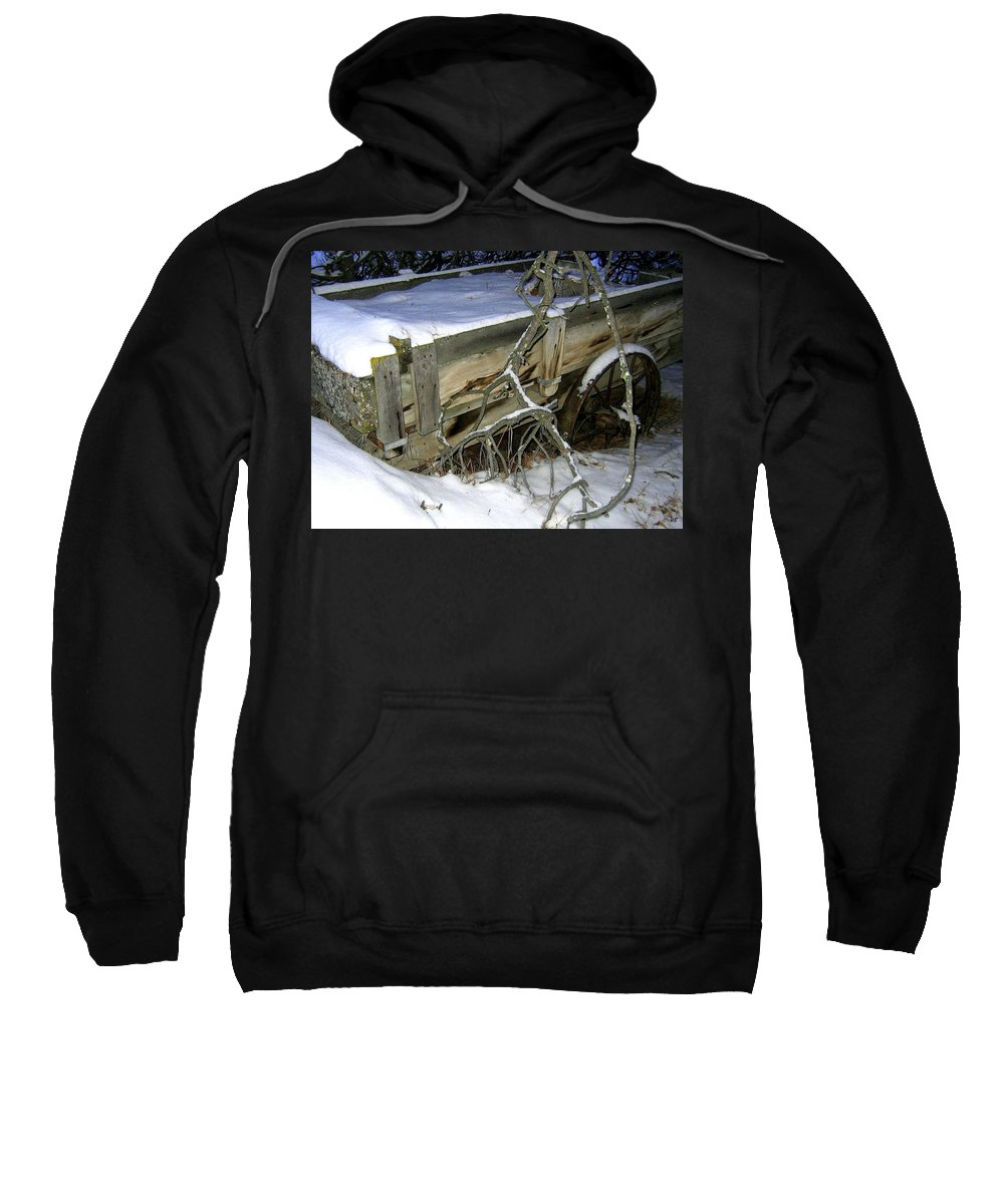 Farm Wagon Sweatshirt featuring the photograph Vintage Farm Wagon by Will Borden