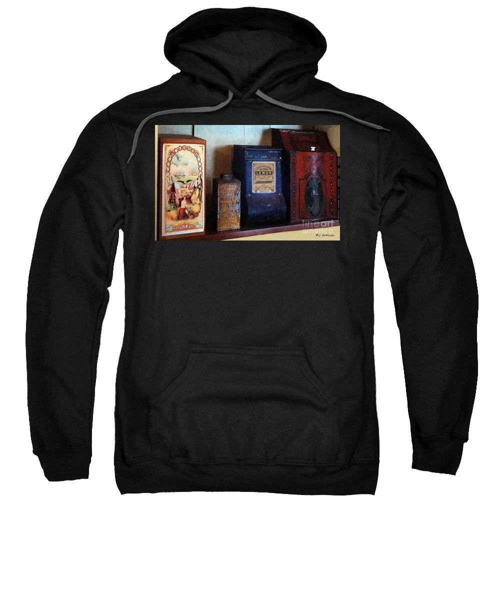 Americana Sweatshirt featuring the painting Vintage Kitchen Magick by RC DeWinter