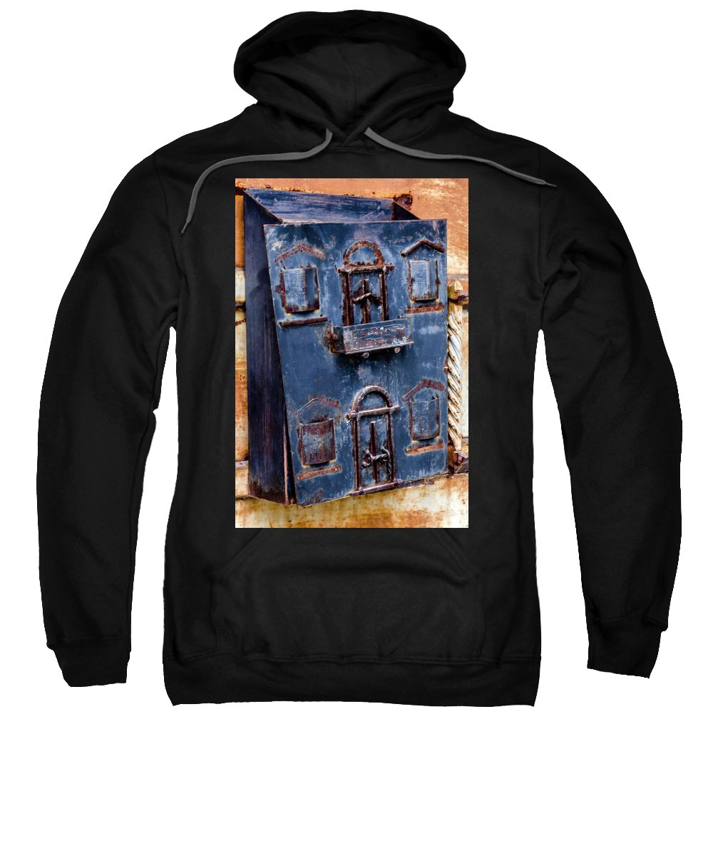 Vintage Sweatshirt featuring the photograph Vintage Mailbox by Wolfgang Stocker