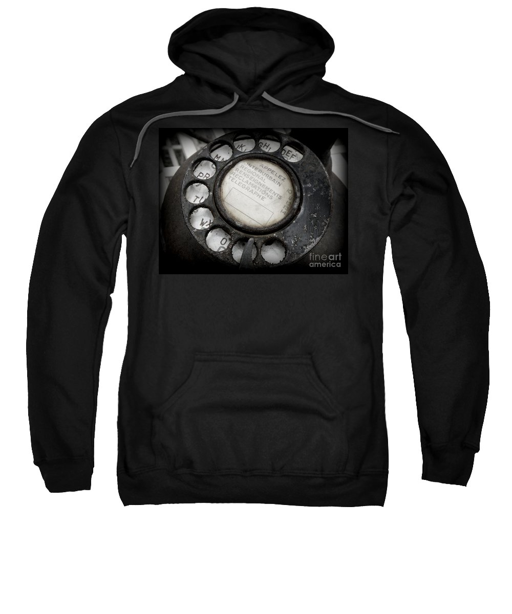 Telephone Sweatshirt featuring the photograph Vintage Telephone by Lainie Wrightson