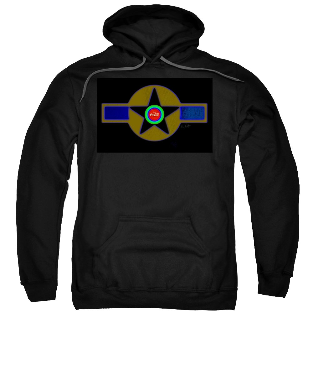 Usaaf Sweatshirt featuring the painting Violet by Charles Stuart