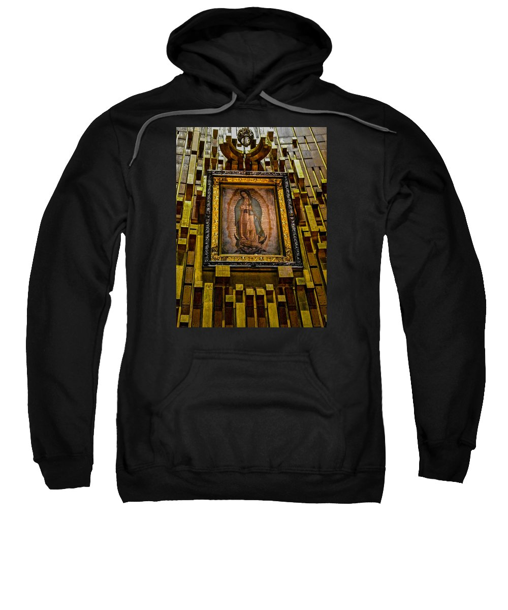 Basilica De Guadalupe Sweatshirt featuring the photograph Virgen De Guadalupe 6 by Totto Ponce