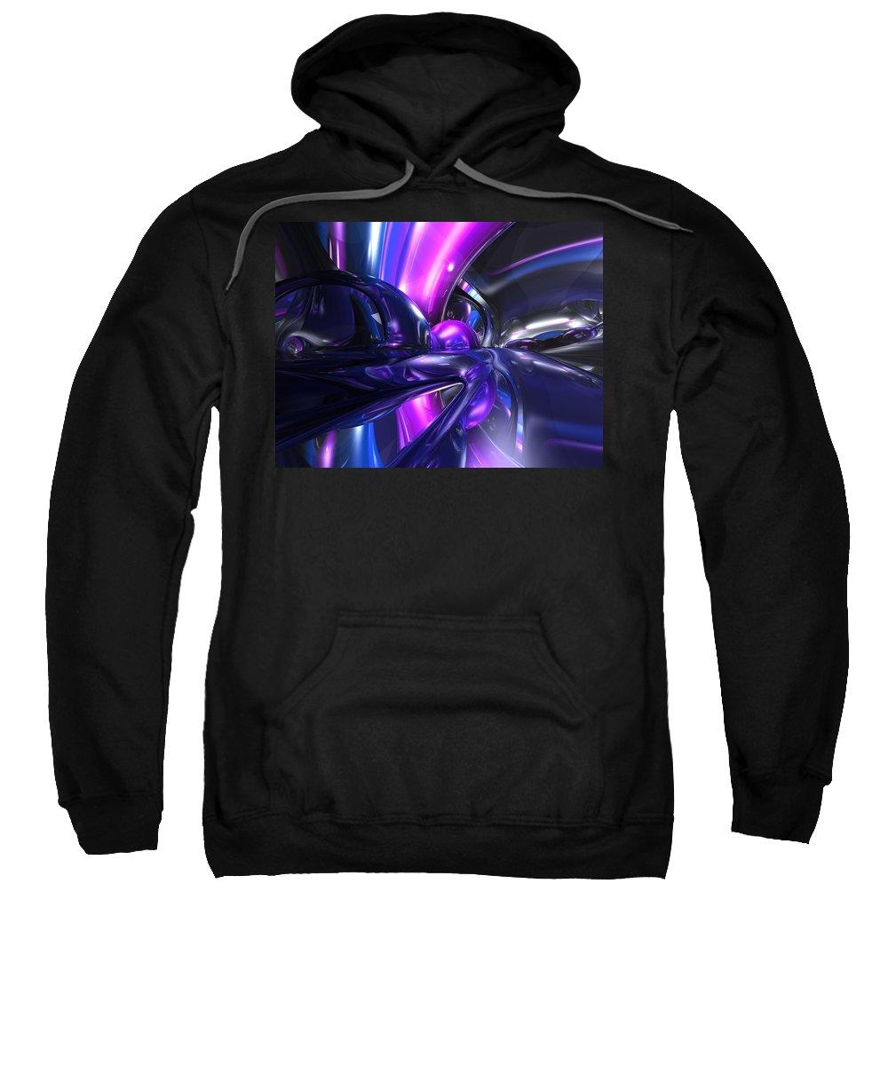 3d Sweatshirt featuring the digital art Vivid Waves Abstract by Alexander Butler