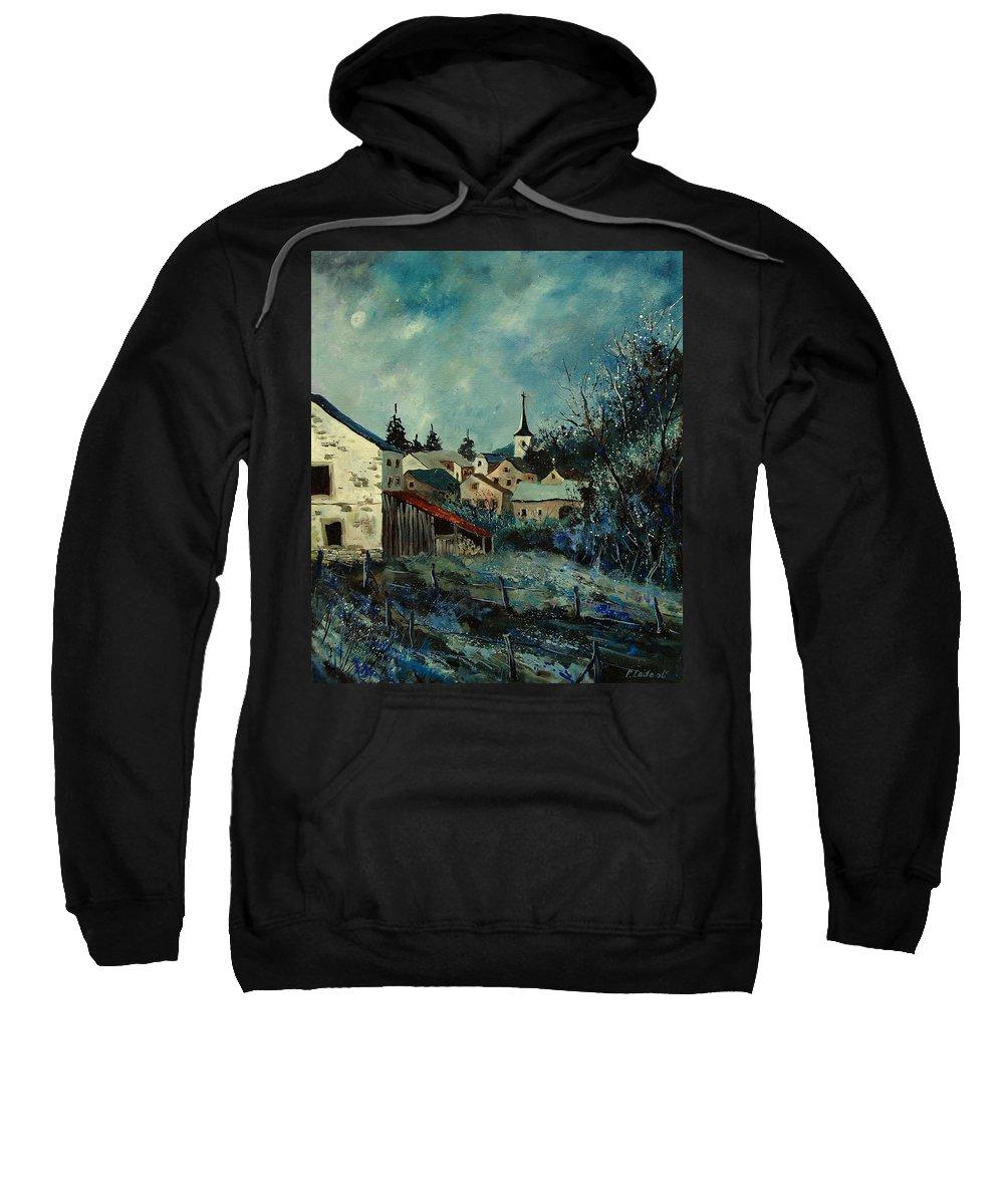 Village Sweatshirt featuring the painting Vivy Bouillon by Pol Ledent