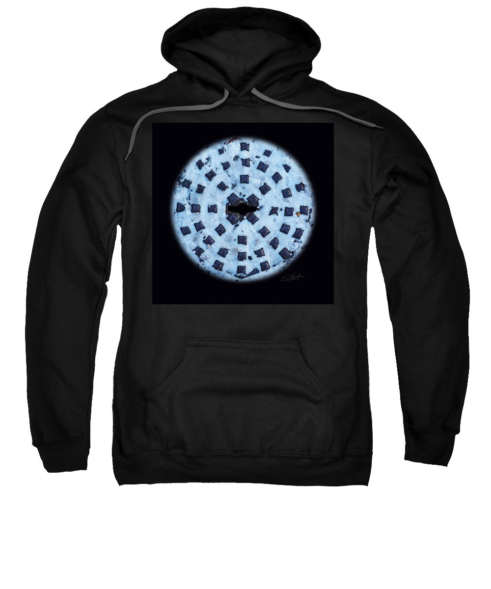 Manhole Sweatshirt featuring the photograph Voice In The Snow by Charles Stuart