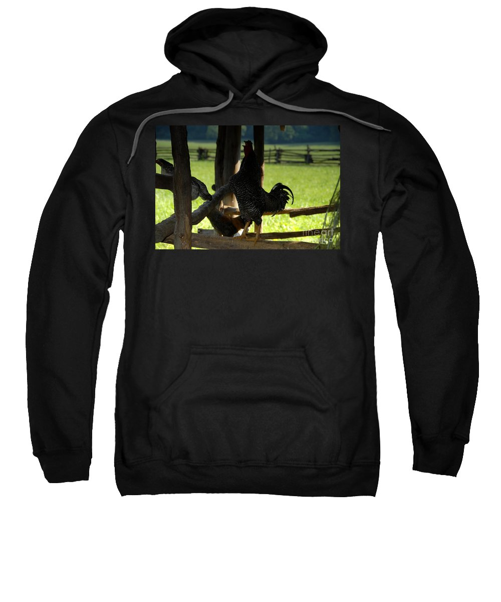 Farm Sweatshirt featuring the photograph Voice Of The Farm by David Lee Thompson