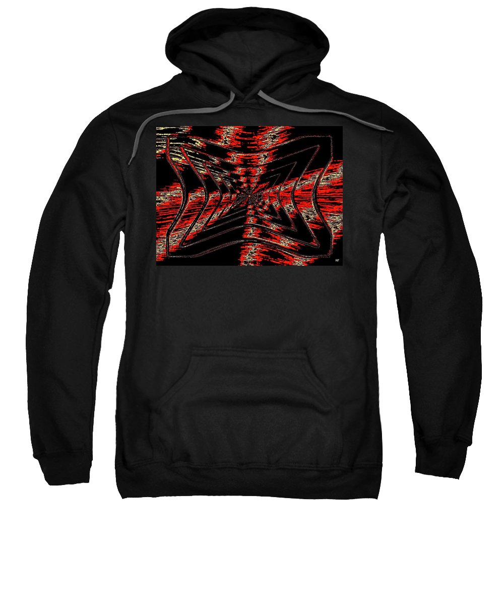 Abstract Sweatshirt featuring the digital art Voltage by Will Borden