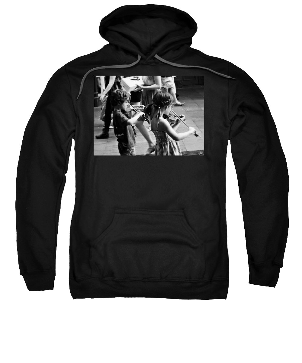 Violin Sweatshirt featuring the photograph Volumes by Abigail Eremic