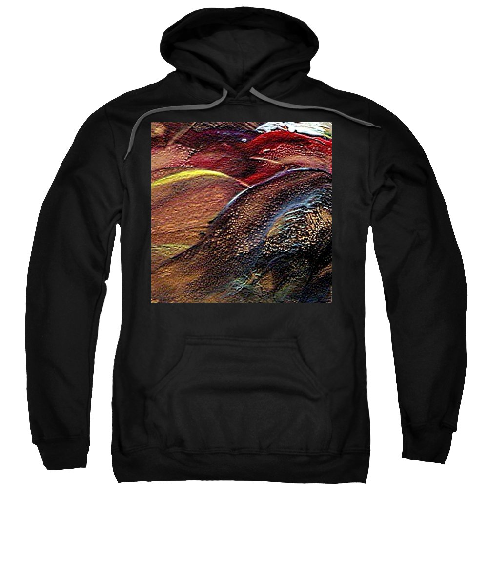 Hills Sweatshirt featuring the painting W 010- Hills by Dragica Micki Fortuna
