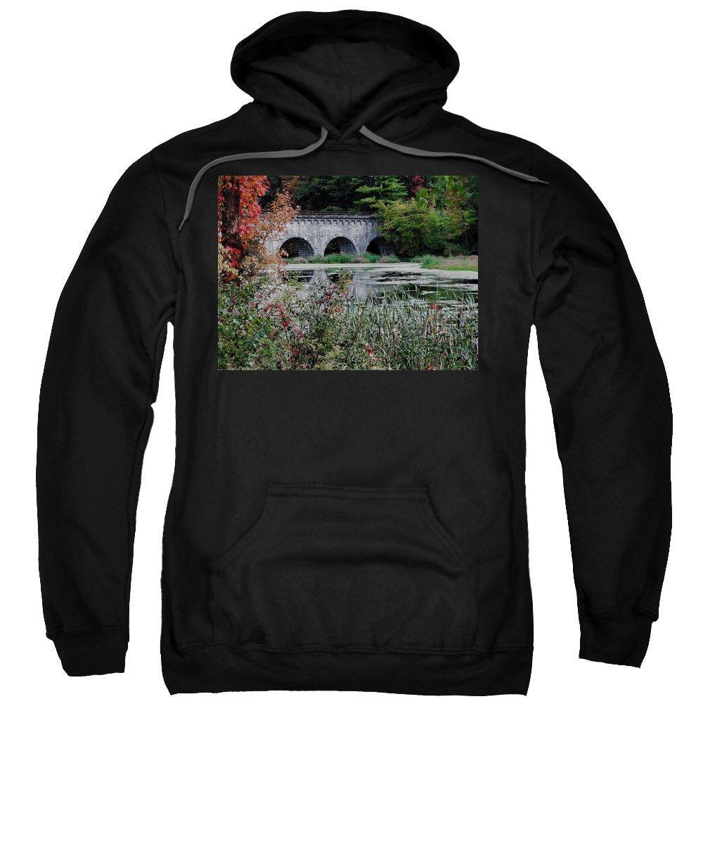 Wachusett Aquaduct Sweatshirt featuring the photograph Wachusett Aquaduct by Bill Dussault