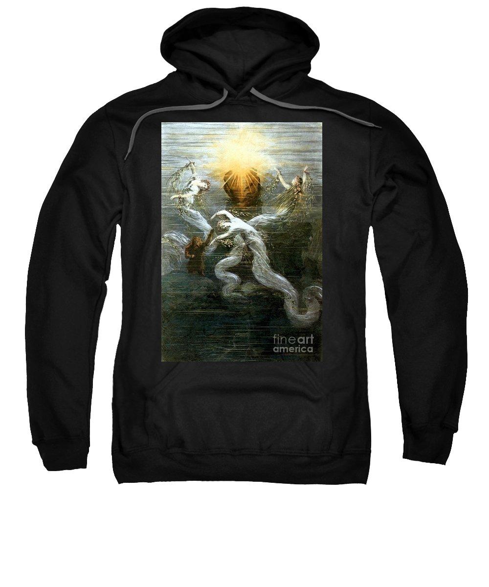 1876 Sweatshirt featuring the photograph Wagner: Das Rheingold by Granger