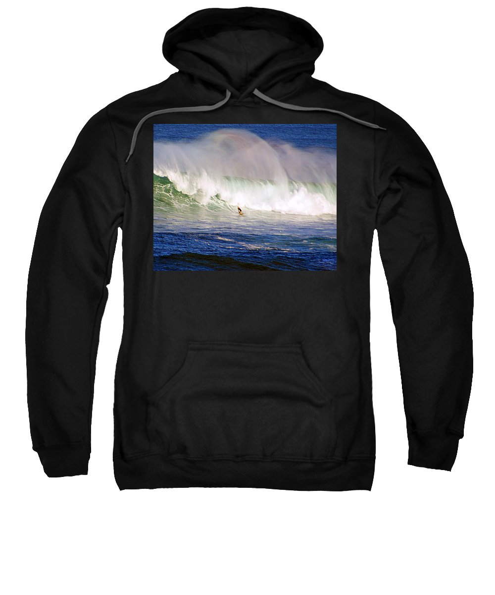 Contest Sweatshirt featuring the photograph Waimea Bay Wave by Kevin Smith