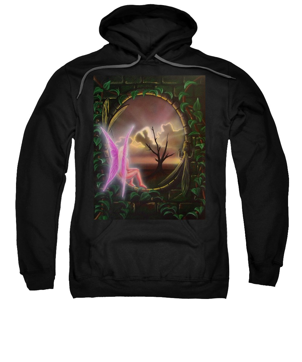 Fairy Sweatshirt featuring the painting Waiting For Spring by Shaun McNicholas