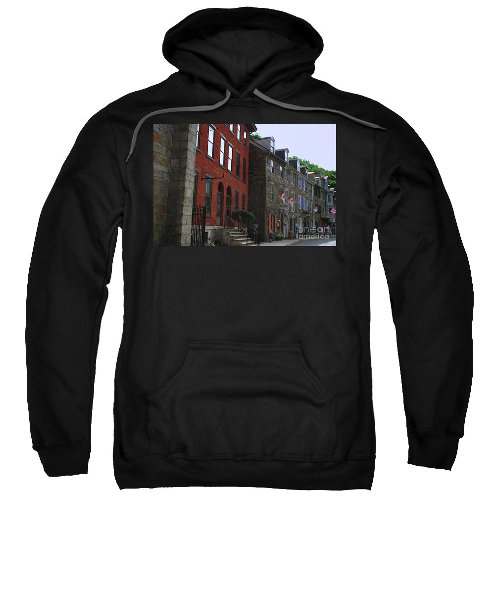 Architecture Sweatshirt featuring the photograph Waiting For The Shoppers by Lori Tambakis