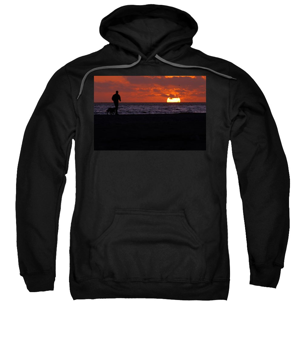 Clay Sweatshirt featuring the photograph Walking The Dog by Clayton Bruster