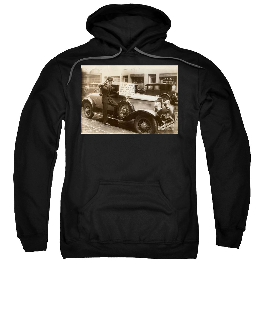 1929 Sweatshirt featuring the photograph Wall Street Crash, 1929 by Granger