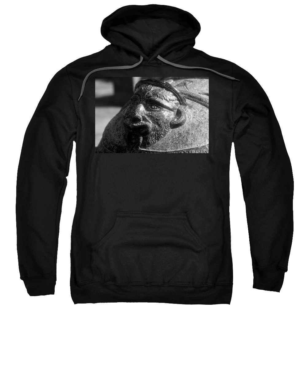 Cannon Sweatshirt featuring the photograph War Face by David Lee Thompson