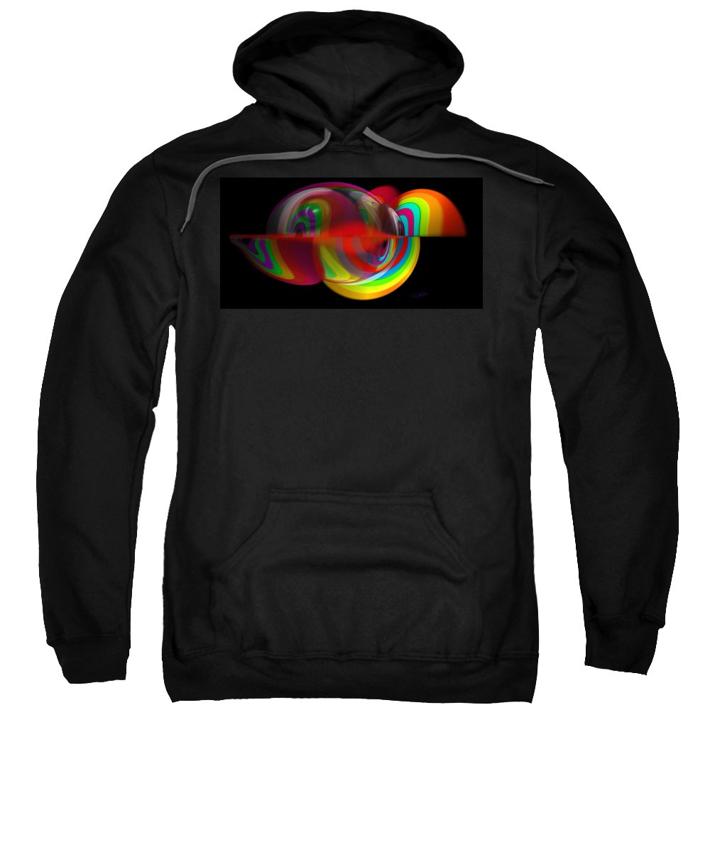 Jelly Sweatshirt featuring the painting Warm Jelly by Charles Stuart