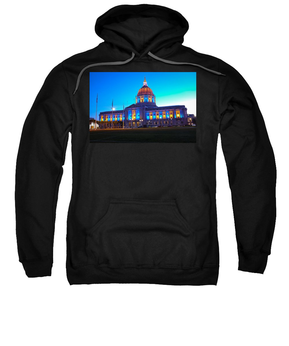 San Francisco City Hall Sweatshirt featuring the photograph Warrior Nation by Jorge Guerzon
